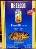 De cecco, fusilli no.34, enriched macaroni product - Producto