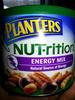 Almonds, honey roasted peanuts, honey roasted sesame sticks, candy coated dark chocolate covered soynuts, walnuts, pecans energy mix, energy mix - Produit