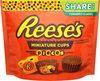 Milk chocolate & peanut butter miniature cups candy - Produit