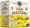 Family farms thin stackers organic lemon poppy - Product