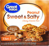 Sweet & salty chewy granola bars peanut count - Product