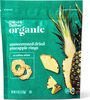 Organic dried unsweetened pineapple ring snacks - Product
