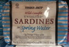 Wild Caught Unsalted Sardines in Spring Water - Product