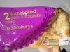 2 flamebaked garlic & coriander naans - Prodotto