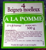 4 beignets moelleux à la pomme - Prodotto