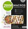 Zone perfect macros fruity cereal bars - Produit