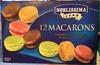 Assortiment de 12 macarons garnis surgelés - Produit