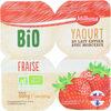 Yaourts avec morceaux fraise bio - Produit