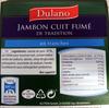 Jambon cuit fumé - Product
