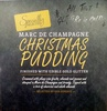 Marc de champagne christmas pudding finished with edible gold glitter - Product