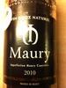 Maury - Produit