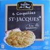 6 Coquilles St-Jacques* à la Bretonne, Surgelées - Produkt