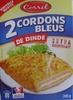 2 Cordons Bleus de Dinde extra croustillant - Produit