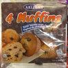 4 Muffins Goût Vanille avec Pépites de chocolat - Product