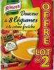 Douceur de 8 légumes à la crème fraîche (lot de 2) - Produit