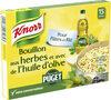 Knorr Bouillon Cube Herbes et Huile D'Olive Puget 15 Cubes - Produit