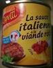 La sauce italienne à la viande rôtie - Producto