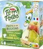 POM'POTES (Sans sucres ajoutés) Fruits de nos Régions Pomme Poire de Rhône-Alpes - Producto