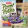 Pom' Potes - Compotes de pomme et myrtille bio - Product