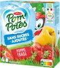 POM'POTES (Sans sucres ajoutés) Pomme Fraise - Product