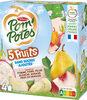 POM'POTES SSA 5 Fruits Blancs (Pomme-Poire-Pêche Blanche-Banane-Fruit du dragon) 4x90g - Product