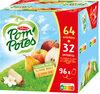 POM'POTES Pomme/Pomme Poire/Pomme Vanille 96x90g 64+32 Offertes - Product