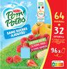 POM'POTES (Sans sucres ajoutés) Pomme/Pomme Fraise/Pomme Framboise 64 32 Offertes - Product