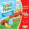 POM'POTES (Sans sucres ajoutés) Pomme/Pomme Brugnon Format Familial - Product