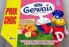 Gervais (Saveurs : Fraise, Banane, Pêche, Framboise, Abricot) 18 Pots - Produit
