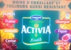 Activia Fruits (Fraise, Ananas, Cerise, Mangue, Figue, Abricot) 16 Pots - Produit