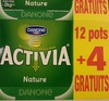 Activia (Nature) 12 pots + 4 Gratuits - Product