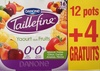 Taillefine, Yaourt au Fruits (0 % MG, 0 % Sucres Ajoutés) - (Abricot, Fraise, Citron, Cerise, Ananas, Pêche) 12 Pots   4 Gratuits - Produit