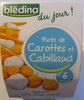 Blédina du jour - Purée de carottes et Cabillaud - Product