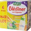 BLEDINA BLEDINER BRIQUES MAXI LOT 6x250ml 4 Carottes / 2 Epinards Dès 6 mois - Produit