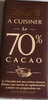 A Cuisiner le 70% Cacao - Product