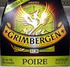 Bière blonde aromatisée poire Grimbergen - Produit