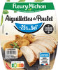 Aiguillettes de poulet - 25% de Sel* - Produit