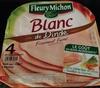 Blanc de dinde ( 4 tranches) - Produit