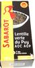 Lentille verte du Puy - AOC - AOP - 500 g - Sabarot - Produit
