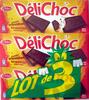 DéliChoc chocolat croustillant noir (lot de 3) - Produit