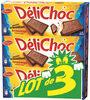 Delichoc tablette chocolat lait lot 3x150g ( - Produit