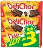 Delichoc tablette chocolat noir lot 3x150g ( - Produit