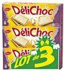 Delichoc tablette chocolat blanc lot 3x150g ( - Produit
