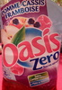 Oasis zéro Pomme cassis framboise - Produit