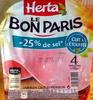 Le Bon Paris - Jambon cuit à l'étouffée - Produit