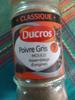 Poivre gris moulu - Product