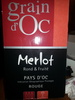 Merlot - Produit