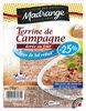 Terrine de Campagne dorée au four taux de sel réduit* (-25%) - Produit