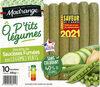 Recette de saucisses fumées aux légumes verts Ô P'tits Légumes - Produit