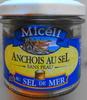Anchois au sel, sans peau, sel de mer - Produit